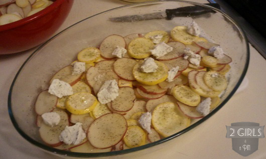 Step 14: 2 Girls and a Pin Potato Squash and Goat Cheese Gratin