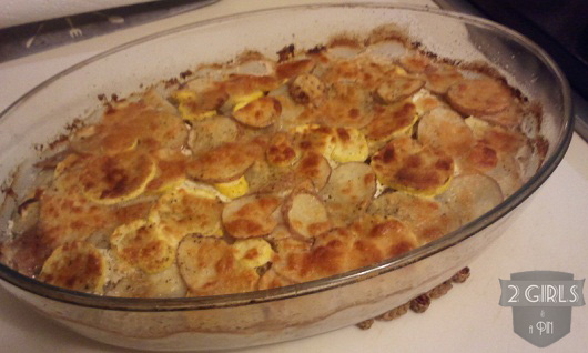 Step 24: 2 Girls and a Pin Potato Squash and Goat Cheese Gratin