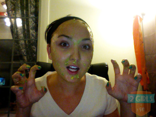 2 Girls and a Pin Moisturizing Avocado Mask is On