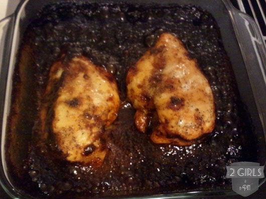 Voila? 2 Girls and a Pin Baked Garlic Brown Sugar Chicken