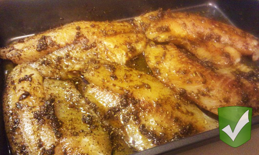 2 Girls and a Pin tested a spicy baked talapia recipe