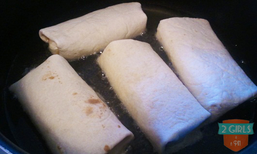 Step 20: 2 Girls and a Pin tested Cinnamon Apple Chimichangas