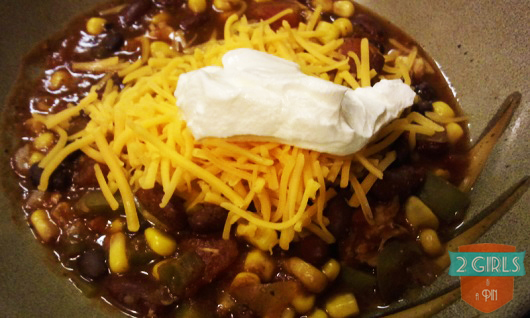 Toppings: 2 Girls and a Pin tested a Crock Pot Taco Chicken Chili