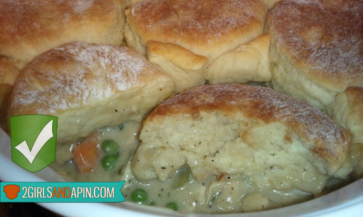 2 Girls and a Pin tested a Biscuit Pot Pie