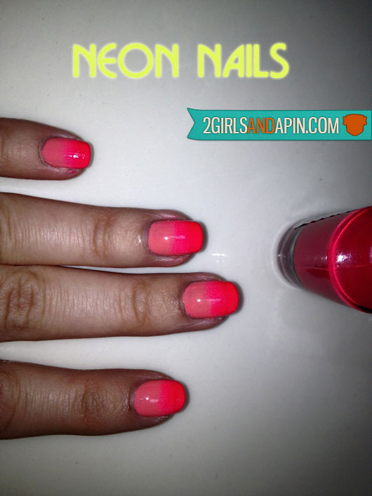 Neon Nails By 2 Girls and A Pin