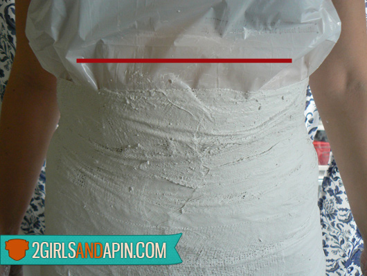 Make your own dress form - by 2 Girls and a Pin